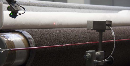 Measuring foam density at the foam table