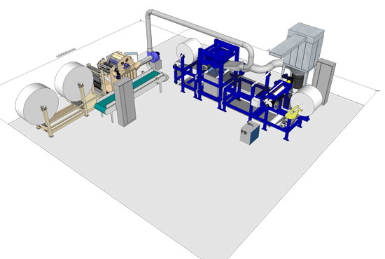 CAMPEN is currently building an airlaid test center with the CAMPEN hammer mill and forming head